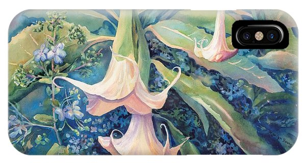 Angels Trumpets II IPhone Case