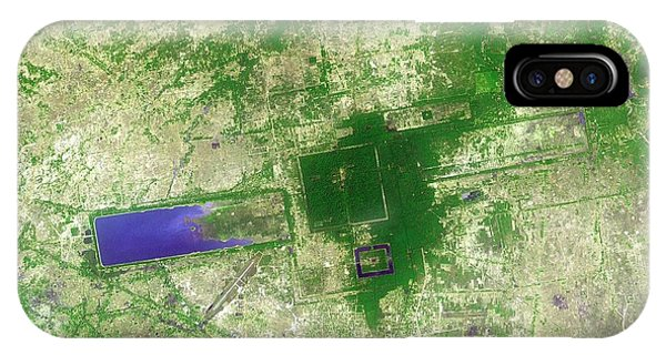 Angkor Thom iPhone Case - Angkor by Nasa/gsfc/meti/japan Space Systems/u.s.,japan Aster Science Team