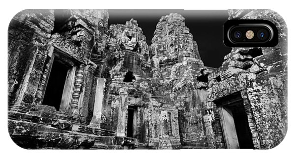 Angkor Thom iPhone Case - Angkor Thom Ruin by Julian Cook