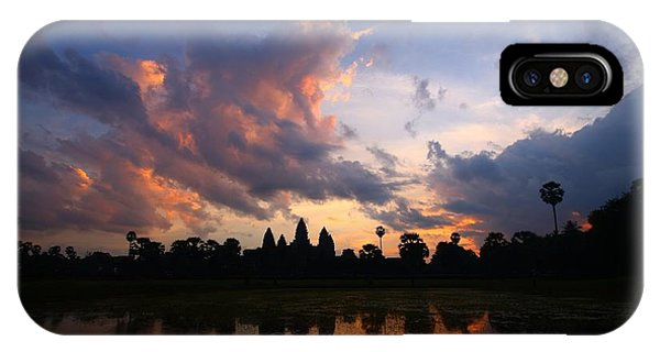 Cambodia iPhone Case - Angkor Wat Sunrise by FireFlux Studios