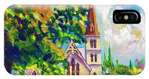 Anglican White Church In Summer IPhone Case