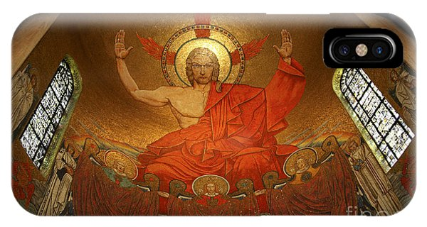Angry God Mosaic At The Shrine Of The Immaculate Conception In Washington Dc IPhone Case