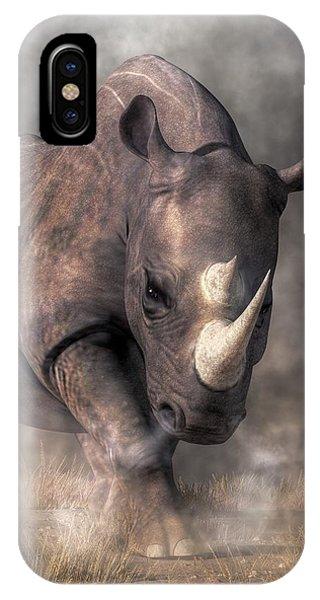 Angry Rhino IPhone Case