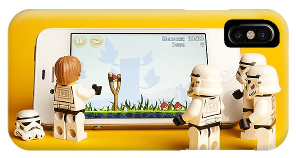 Storm iPhone Case - Angry Birds Storm Troopers by Samuel Whitton