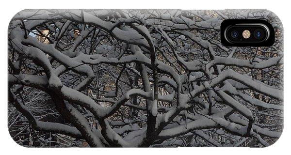Angular Tree With Snow IPhone Case