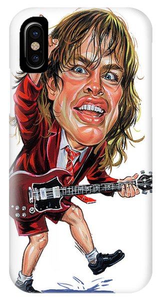 Superior iPhone Case - Angus Young by Art