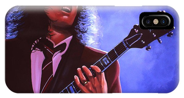 Ice iPhone Case - Angus Young Of Ac / Dc by Paul Meijering