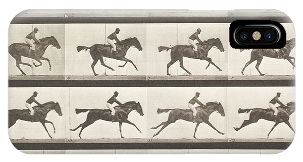 Stop Action iPhone Case - Animal Locomotion - Horse by Celestial Images