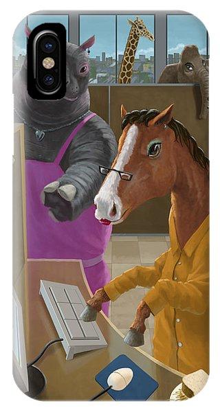 Animal Office IPhone Case