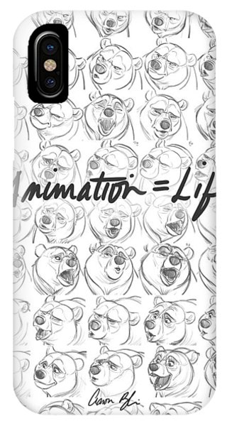 Drawn iPhone Case - Animation  Life by Aaron Blaise