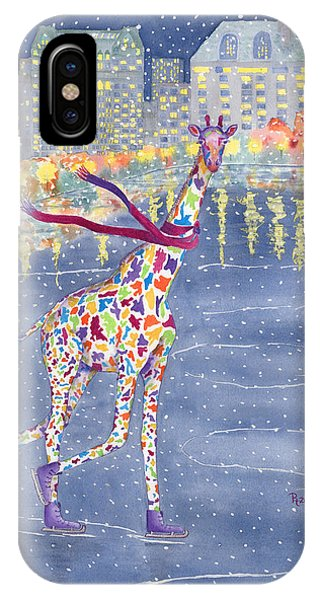 Giraffe iPhone Case - Annabelle On Ice by Rhonda Leonard