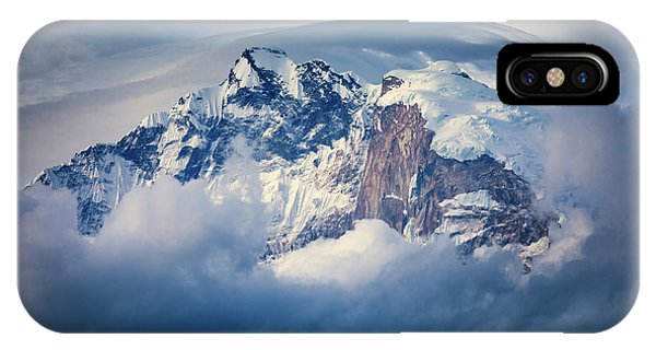 Frost iPhone Case - Annapurna Range by Adrian Popan
