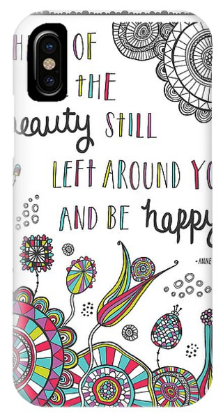 Positive iPhone Case - Anne Frank Quote by MGL Meiklejohn Graphics Licensing