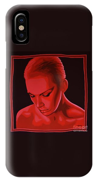 Rhythm And Blues iPhone X / XS Case - Annie Lennox by Paul Meijering