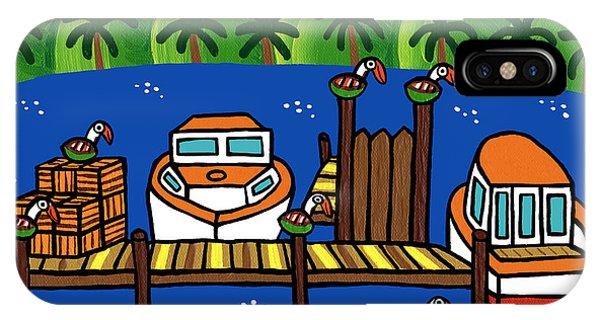 Annie's Dock - Cedar Key IPhone Case