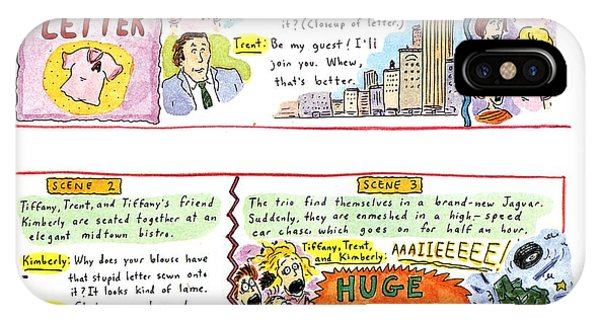 Scarlet iPhone Case - Another Remake Of The 'scarlet Letter' by Roz Chast
