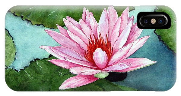 Lillie iPhone Case - Another Water Lily by Sam Sidders