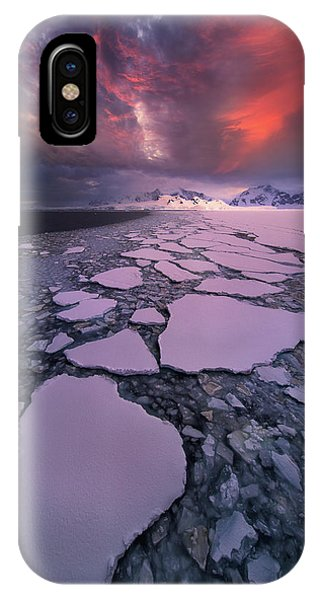 Winter iPhone Case - Antarctica Fire by Victor Liu