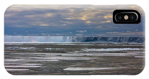 Antarctica Ross Ice Shelf Edge  IPhone Case