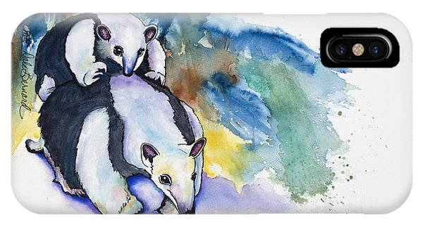 Anteater With Baby IPhone Case