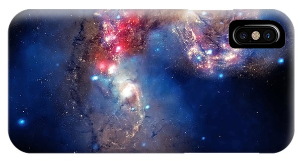 Antennae Galaxies Collide 2 IPhone Case