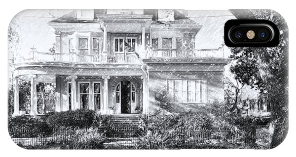 Anthemion At 4631 St Charles Ave. New Orleans Sketch IPhone Case