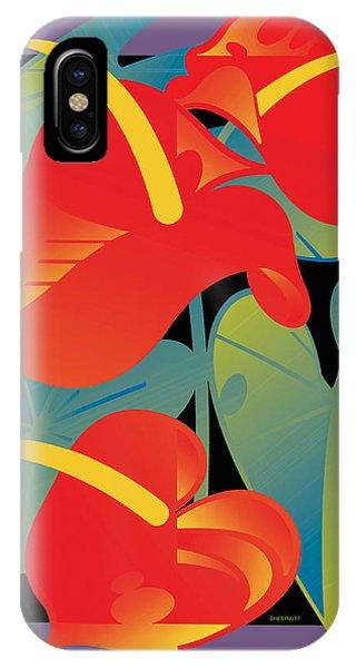 Anthurium IPhone Case