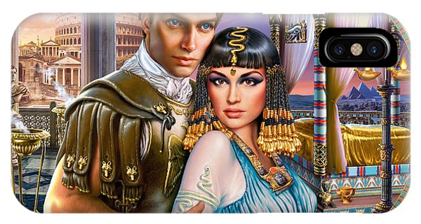 Pharaoh iPhone Case - Anthony And Cleopatra by MGL Meiklejohn Graphics Licensing