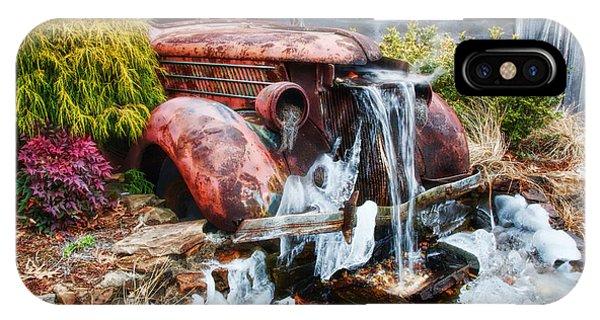 Antique Car Water Fountain Columbus Georgia IPhone Case