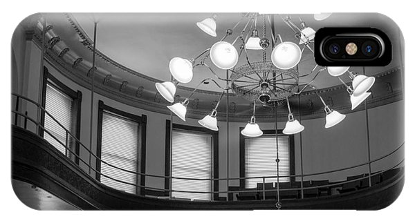 Antique Chandelier In Old Courtroom IPhone Case