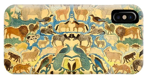 Camel iPhone Case - Antique Cutout Of Animals  by American School