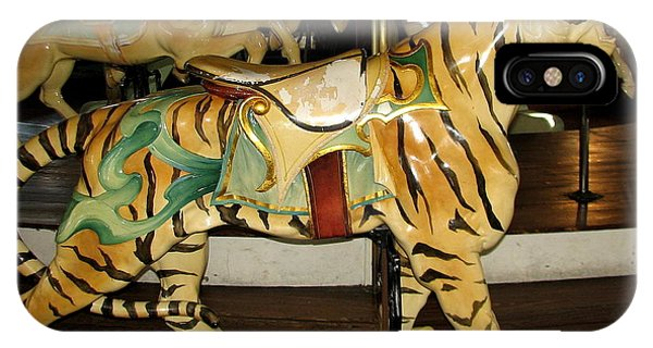 Antique Dentzel Menagerie Carousel Tiger IPhone Case