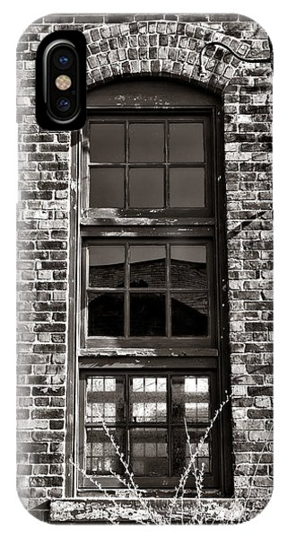 Window Pane iPhone Case - Antique Factory Window by Olivier Le Queinec