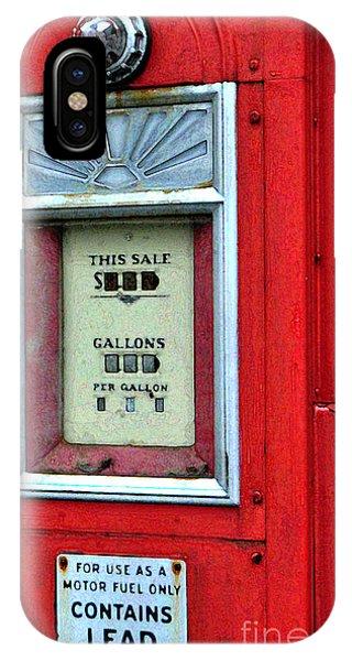 Antique Gas Pump IPhone Case