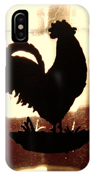 Antique Glass Chicken Silhouette IPhone Case