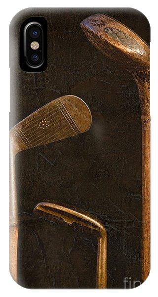 Antique Golf Clubs IPhone Case