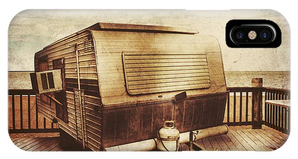 Caravan iPhone Case - Antique Holidays by Jorgo Photography - Wall Art Gallery