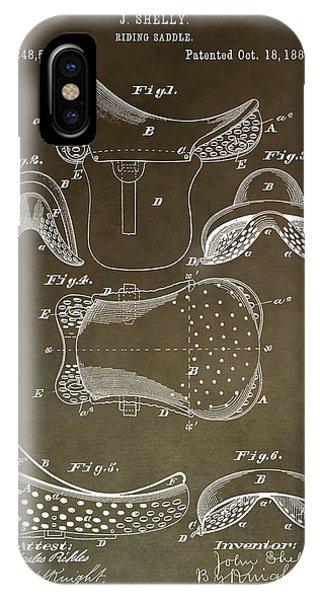 Antique Horse Saddle Patent IPhone Case