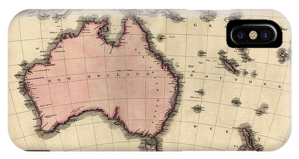 Antique Map Of Australia And The Pacific Islands By John Pinkerton - 1818 IPhone Case