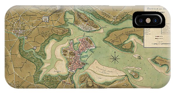 Antique Map Of Boston Massachusetts By Thomas Hyde Page - 1776 IPhone Case