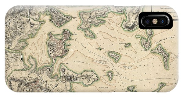 Antique Map Of Boston Massachusetts By Thomas Hyde Page - Circa 1775 IPhone Case