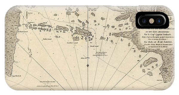 Antique Map Of Casco Bay And Portland Maine By Cyprian Southack - 1779 IPhone Case