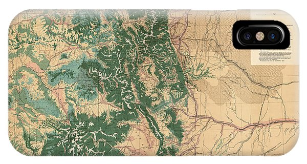 Antique Map Of Colorado - 1877 Phone Case by Blue Monocle