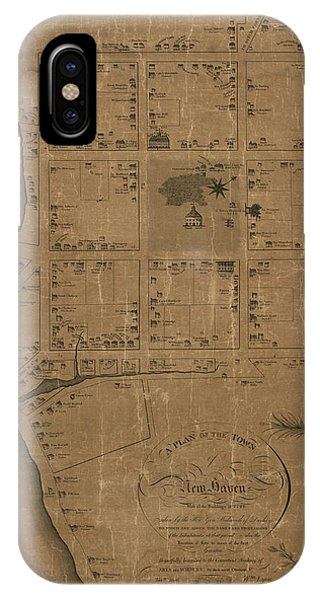 Haven iPhone Case - Antique Map Of New Haven By William Lyon - 1806 by Blue Monocle