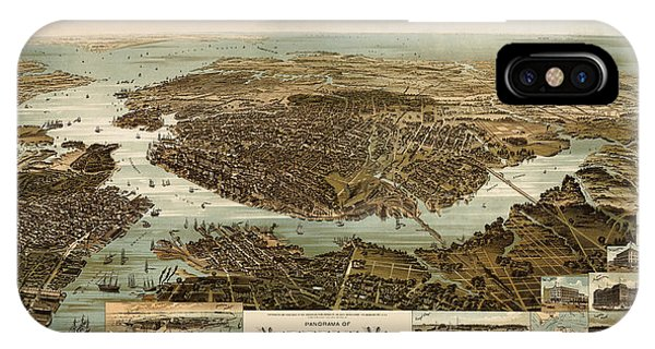 Antique Map Of Norfolk And Portsmouth Virginia By H. Wellge - 1892 Phone Case by Blue Monocle