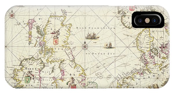 Antique Map Of The North Sea IPhone Case