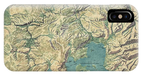 Yellowstone National Park Topographic Map.Topographic Map Iphone Cases Fine Art America