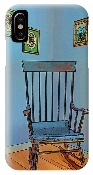 Retirement Home IPhone Case   Antique Rocking Chair By Harold Bonacquist