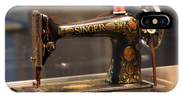 Antique Sewing Machine  IPhone Case