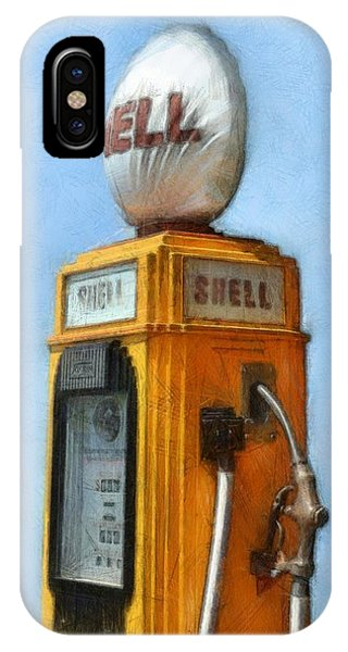 Antique Shell Gas Pump IPhone Case